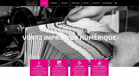 Imprimerie Easy : création du nouveau site Internet