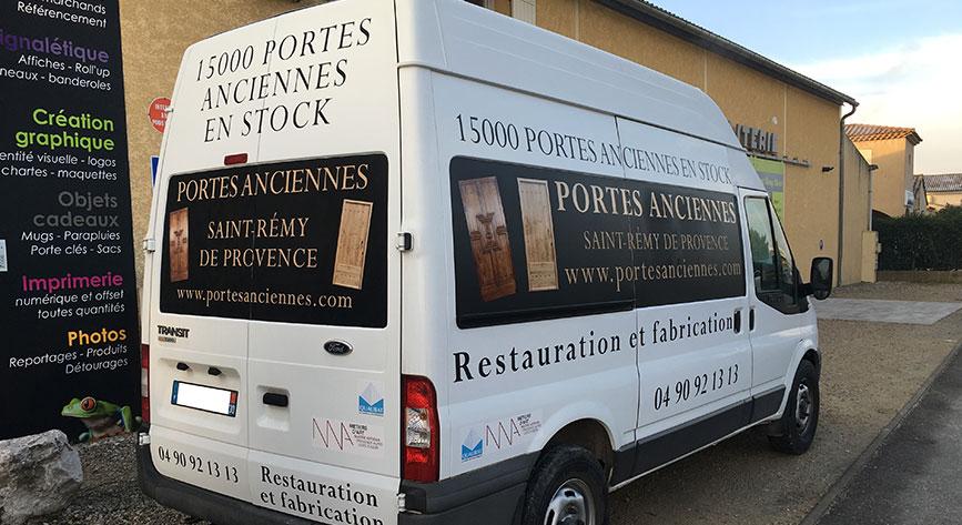 Marquage fourgon pour les artisans à Saint-Rémy de Provence