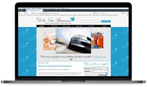 Création site Internet Dolce Vita Assurances à Eygalières