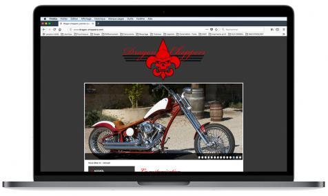 Création site Internet Dragon Choppers à Vacqueyras