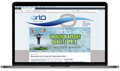 Création site Internet Imprimerie Orta à Avignon