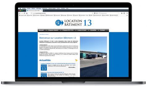 Création site Internet Location Bâtiment 13 à Noves