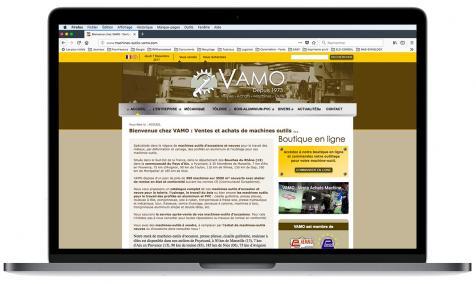 Création site Internet Machines outils Vamo à Puyricard