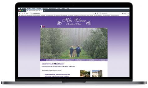 Création site Internet Mas Blanc à Orgon