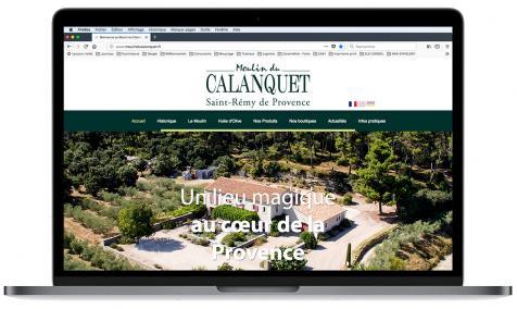 Création site Internet Moulin du Calanquet à Saint-Rémy de Provence