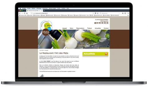 Création site Internet Restaurant L'art des Mets à Eyguières