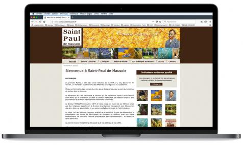 Création site Internet Saint-Paul de Mausole à Saint-Rémy de Provence
