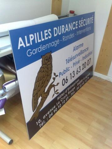 Panneau publicitaire pour Alpilles Durance Sécurité à Chateaurenard