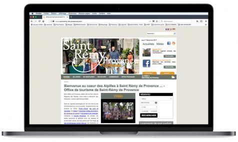 Création site Internet Office de Tourisme de Saint-Rémy de Provence