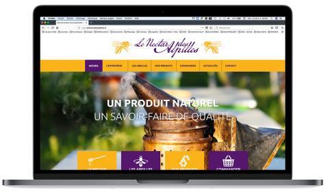 Création site Internet pour Le Nectar des Alpilles à Mas Blanc des Alpilles