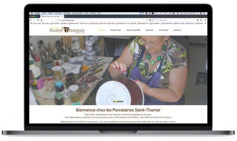 Création site web Porcelaines Saint-Thamar Lot-et-Garonne