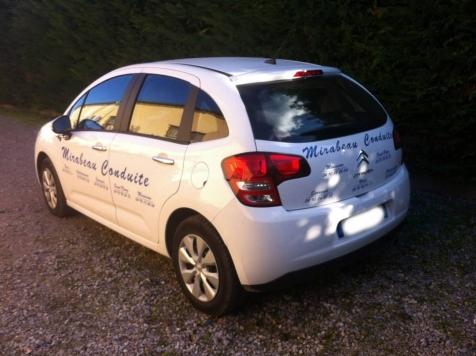 Marquage de véhicule pour Mirabeau Conduite à Saint-Rémy de Provence