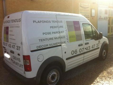 Habillage de véhicule pour ABACASUD à Saint-Rémy de Provence