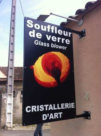 Enseigne panneau drapeau pour le souffleur de verre de Saint-Rémy de Provence