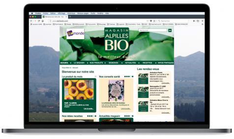 Création du site vitrine du magasin Alpilles Bio à Saint-Rémy de Provence