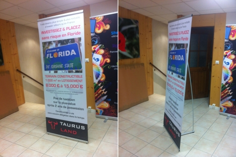 Banners imprimés sur bâche anti-curling pour Taurus Land