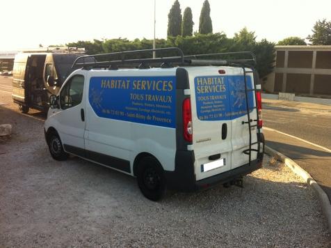 Habillage de véhicule utilitaire pour Habitat Services à Saint-Rémy de Provence
