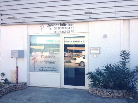 Habillage de façade pour le Cabinet infirmier Sonveau à Saint-Rémy de Provence