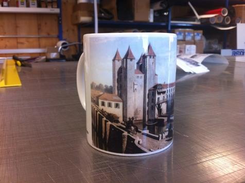 Mugs publicitaires pour les Porcelaines Saint-Thamar à Barbaste