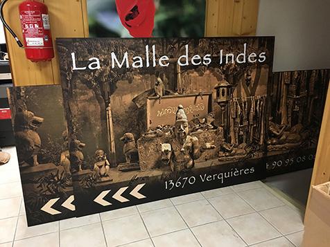 Réalisation de panneaux pour la Malle des Indes à Verquières