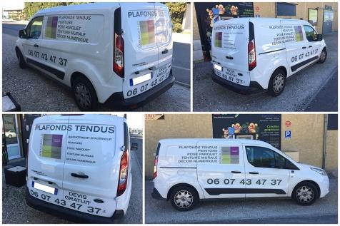 Habillage nouveau véhicule utilitaire ABACASUD à Saint-Rémy de Provence