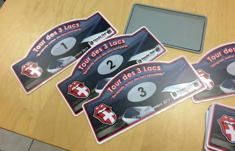 Plaques de Rallye pour le Porsche club d'Eyragues