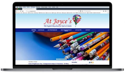 Création du site web de l'école At Joyce's à Saint-Rémy de Provence