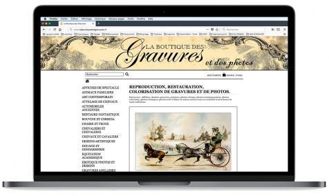 Création site Internet marchand La Boutique des gravures à Saint-Rémy de Provence