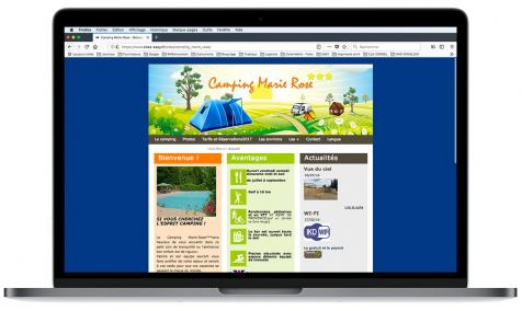 Création site Internet Camping Marie Rose aux Paluds de Noves