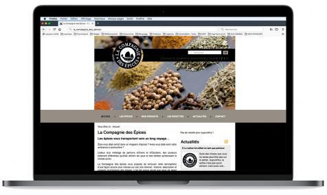 Création site Internet La Compagnie des Epices à Saint-Chamas-en-Provence